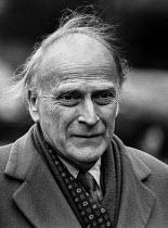 Violinist Yehudi Menuhin 1985, funeral of Sir Michael Redgrave, St Paul's, Covent Garden, London - Peter Arkell - 26-03-1985