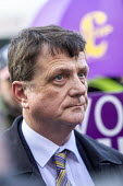 Gerard Batten UKIP MEP being interviewed by the press outside Parliament during votes on how the UK leaves the European Union, Westminster, London. - Jess Hurd - 2010s,2019,activist,activists,against,Brexit,campaign,campaigning,CAMPAIGNS,DEMONSTRATING,demonstration,EU,European Union,eurosceptic,Euroscepticism,eurosceptics,Gerard Batten,interview,INTERVIEWED,IN