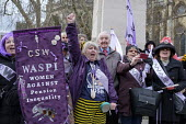 Dennis Skinner and Women Against State Pension Inequality protest outside Parliament, Westminster, London - Philip Wolmuth - 13-03-2019