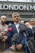 London Mayor Sadiq Khan, faith leaders and politicians condemning Islamophobia after the New Zealand Mosque terrorist attacks, East London Mosque, Tower Hamlets, East London. - Jess Hurd - 2010s,2019,activist,activists,against,Anti Racism,anti racist,attack,attacking,attacks,BAME,BAMEs,Black,BME,bmes,CAMPAIGNING,CAMPAIGNS,Christchurch shootings,DEATH,DEMONSTRATING,Demonstration,diversit