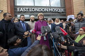 London Mayor Sadiq Khan, faith leaders and politicians condemning Islamophobia after the New Zealand Mosque terrorist attacks, East London Mosque, Tower Hamlets, East London. - Jess Hurd - 15-03-2019