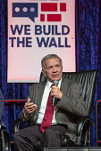 Detroit, Michigan, USA: We Build the Wall Rally, Tom Tancredo speaking to promote construction of a Mexican border wall - Jim West - 14-03-2019