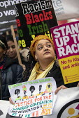 Zita Holborne, PCS Justice for the Windrush generation, Stand Up to Racism march and rally, London. UN Anti Racism Day - Jess Hurd - 2010s,2019,activist,activists,against,Anti Racism,anti racist,BAME,BAMEs,bigotry,Black,Black and White,BME,bmes,CAMPAIGNING,CAMPAIGNS,DEMONSTRATING,Demonstration,DEMONSTRATIONS,DISCRIMINATION,diversit