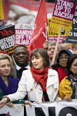 Frances O'Grady TUC leading Stand Up to Racism march and rally, London. UN Anti Racism Day - Jess Hurd - 2010s,2019,activist,activists,against,Anti Racism,anti racist,BAME,BAMEs,bigotry,Black,Black and White,BME,bmes,CAMPAIGNING,CAMPAIGNS,DEMONSTRATING,Demonstration,DEMONSTRATIONS,DISCRIMINATION,diversit