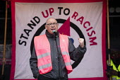 Dave Ward CWU speaking Stand Up to Racism march and rally, London. UN Anti Racism Day - Jess Hurd - 2010s,2019,activist,activists,against,Anti Racism,anti racist,banner,banners,bigotry,CAMPAIGNING,CAMPAIGNS,CWU,Dave Ward,DEMONSTRATING,Demonstration,DEMONSTRATIONS,DISCRIMINATION,INEQUALITY,London,mem