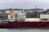 LNG tanker Al Mayeda, Milford Haven, Pembrokeshire, Wales. South Hook LNG - John Harris - 18-03-2019