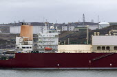LNG tanker Al Mayeda, Milford Haven, Pembrokeshire, Wales. South Hook LNG - John Harris - 2010s,2019,Al Mayeda,boat,boats,capitalism,capitalist,cargo,crew,crewman,crewmen,crewmenmaritime,distributing,distribution,docked,EBF,Economic,Economy,employee,employees,Employment,energy,fossil fuels