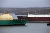 LNG Rivers tanker, South Hook LNG, Milford Haven, Pembrokeshire, Wales - John Harris - 18-03-2019