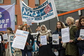 Protest against health charges for migrants and the Hostile Environment policy in the NHS, march from East London Mosque to the Royal London Hospital, Whitechapel, Tower Hamlets, East London - Jess Hurd - 22-03-2019