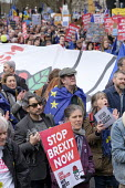 People's Vote march, London. For a second EU referendum - Philip Wolmuth - 2010s,2019,activist,activists,against,age,ageing population,banner,banners,Brexit,CAMPAIGNING,CAMPAIGNS,DEMONSTRATING,demonstration,elderly,EU,European Union,FEMALE,flag,flags,Labour Party,Left,left w