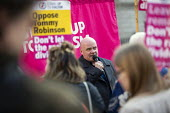 Steve Hedley RMT, speaking Stand up to Racism protest against Tommy Robinson as Brexiteers protest on the day the UK was meant to leave the EU, Westminster, London. - Jess Hurd - 2010s,2019,activist,activists,against,Anti Racism,anti racist,bigotry,Brexit,CAMPAIGNING,CAMPAIGNS,DEMONSTRATING,demonstration,DISCRIMINATION,EU,European Union,INEQUALITY,leave,London,member,member me