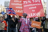 Conservative leave supporters at Pro Brexit protests on the day the UK was meant to leave the EU, Westminster, London - Jess Hurd - 2010s,2019,activist,activists,against,BAME,BAMEs,Black,Black and White,BME,bmes,Brexit,CAMPAIGNING,CAMPAIGNS,CONSERVATIVE,Conservative Party,conservatives,DEMONSTRATING,demonstration,diversity,ethnic,