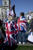 Pro Brexit protests on the day the UK was meant to leave the EU, Parliament Square, Westminster, London - David Mansell - 2010s,2019,Brexit,campaign,campaigning,CAMPAIGNS,EU,European Union,Far Right,Far Right,flag,flags,Leave,London,nationalism,parliament,rightwing,Union Jack,Westminster
