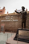 Statue of Shaheed Udham Singh at the Monument to dead of The Amritsar massacre, Jallianwala Bagh, India. Troops of the British Indian Army under the command of Colonel Reginald Dyer fired rifles into... - Martin Mayer - 1919,2010s,2018,ACE,activist,activists,against,Amritsar,ASIAN,ASIANS,BLACK,CAMPAIGN,campaigner,campaigners,CAMPAIGNING,CAMPAIGNS,command,Culture,dead,death,deaths,DEMONSTRATING,DEMONSTRATION,DEMONSTRA