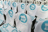 Campaign T-shirts, Brexit Party launch, Coventry. European Parliament elections campaign - John Harris - 2010s,2019,Brexit,campaign,campaigning,CAMPAIGNS,Coventry,DEMOCRACY,ELECTION,elections,EU,European Union,Far Right,Far Right,launch,Leave,nationalism,Parliament,Party,POL,political,POLITICIAN,POLITICI