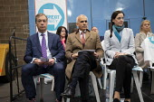 Brexit Party launch, Coventry. Nigel Farage, Ben Habib, Annunziata Rees-Mogg, European Parliament elections campaign - John Harris - 2010s,2019,Asian,Asians,BAME,BAMEs,Black,BME,bmes,Brexit,campaign,campaigning,CAMPAIGNS,candidate,candidates,Coventry,DEMOCRACY,diversity,ELECTION,elections,ethnic,ethnicity,EU,European Union,Far Righ