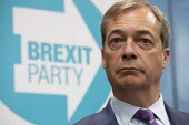 Nigel Farage, Brexit Party launch, Coventry European Parliament elections campaign - John Harris - 2010s,2019,Brexit,campaign,campaigning,CAMPAIGNS,Coventry,DEMOCRACY,ELECTION,elections,EU,European Union,Far Right,Far Right,launch,Leave,male,man,men,nationalism,Nigel Farage,Parliament,Party,people,