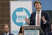 Richard Tice, Brexit Party launch, Coventry European Parliament elections campaign - John Harris - 2010s,2019,Brexit,campaign,campaigning,CAMPAIGNS,Coventry,DEMOCRACY,ELECTION,elections,EU,European Union,Far Right,Far Right,launch,Leave,male,man,men,nationalism,Nigel Farage,Parliament,Party,people,