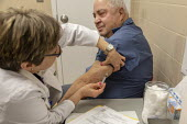 Southfield, Michigan USA: MMR vaccination against a measles outbreak, Oakland County Health Department. Twenty-two measles cases have been confirmed in the area - Jim West - 27-03-2019