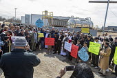 Detroit, Michigan USA Protest After Friday prayers marcheing to the nearby US Ecology plant to oppose a proposed expansion of the hazardous waste facility. The plant is near a low-income, mostly immig... - Jim West - 2010s,2019,activist,activists,against,America,american,americans,BAME,BAMEs,Black,BME,bmes,CAMPAIGN,campaigner,campaigners,CAMPAIGNING,CAMPAIGNS,communities,community,DEMONSTRATING,demonstration,DEMON