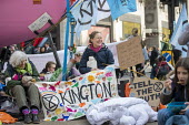 Extinction Rebellion protest, Oxford Circus against lack of government action on climate change. Nonviolent direct action blocking London - Jess Hurd - 17-04-2019