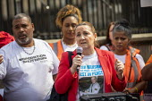 Operation Shutdown, Stop The Violence, end knife crime protest, Westminster Bridge, London. Tracey Hanson, mother of Joshua Hanson - Jess Hurd - 17-04-2019