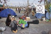 Extinction Rebellion climate change campaigners occupy Waterloo Bridge, London - Philip Wolmuth - 18-04-2019