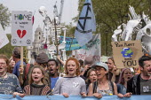 Extinction Rebellion climate change protest from Marble Arch arriving at Parliament Square, London - Philip Wolmuth - 23-04-2019