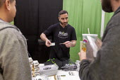 "Mt. Pleasant, Michigan, USA, 420 Canna Expo, ""Rollos"" rolling papers. Canna Expo is a trade show for companies selling goods and services for the medical and recreational marijuana industry. Michigan... - Jim West - 20-04-2019"