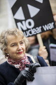 Kate Hudson, CND Anti nuclear war protest Westminster Abbey, London. 500 people took part in a CND protest and Christian CND vigil outside Westminster Abbey to oppose a thanksgiving service to mark 50... - Jess Hurd - 03-05-2019