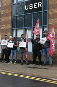 Uber drivers strike for £2 a mile, reduced commission, rights at work and no unfair dismissals, as Uber issue their IPO, Birmingham Uber office - John Harris - 08-05-2019