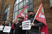 Uber drivers strike for £2 a mile, reduced commission, rights at work and no unfair dismissals, as Uber issue their IPO, Birmingham Uber office - John Harris - 2010s,2019,activist,activists,against,Asian,Asians,BAME,BAMEs,Birmingham,Black,BME,bmes,cab,cabs,CAMPAIGN,campaigner,campaigners,CAMPAIGNING,CAMPAIGNS,cas,cities,City,Day of Action,DEMONSTRATING,Demon