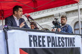 Richard Burgon MP speaking National Demonstration for Palestine, London - Jess Hurd - 2010s,2019,activist,activists,against,CAMPAIGNING,CAMPAIGNS,DEMONSTRATING,Demonstration,Labour Party,London,MP,MPs,Palestine,Palestine Solidarity Campaign,POL,political,politician,politicians,Politics