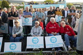 Supporters, Brexit Party Rally, Merthyr Tydfil, South Wales - John Harris - 2010s,2019,Brexit,Brexit Party,campaign,campaigning,CAMPAIGNS,DEMOCRACY,election,elections,EU,European Parliament election,European Union,far right,far right,FEMALE,Leave,Merthyr,nationalism,nationali