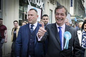 Nigel Farage, Brexit Party, Newcastle Upon Tyne, European parliament elections campaign - Mark Pinder - 2010s,2019,bodyguard,bodyguards,Brexit,Brexit Party,campaign,campaigning,CAMPAIGNS,cities,City,DEMOCRACY,ELECTION,elections,EU,European Union,far right,far right,Leave,Newcastle,parliament,Party,POL,p