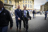 Nigel Farage, after a milkshake was thrown at him, Newcastle Upon Tyne, Brexit Party European parliament elections campaign - Mark Pinder - 20-05-2019
