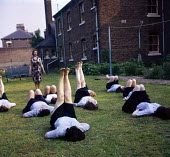 Women prisoners exercising in the grounds, Holloway Prison, London, 1959Women prisoners excercising in the grounds, Holloway Prison, London, 1959Women prisoners excercising in the grounds, Holloway Pr... - Malcolm Aird - 1950s,1959,CLJ,crime,employee,employees,Employment,exercise,exercises,exercising,female,HMP Holloway,Holloway,Holloway Prison,imprisonment,incarcerated,incarceration,inmate,inmates,jail,jailed,jails,j