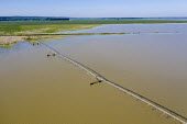 Yazoo County, USA, Mississippi Delta flooding. Irrigation system on a flooded farm. High volume of spring rainfall has caused widespread flooding of farmland preventing the planting of crops - Jim West - 14-09-2017
