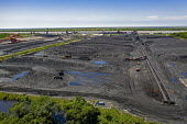 Davant, Louisiana, USA, United Bulk Terminals dry bulk export terminal. It stores coal and petcoke for export and loading onto ships on the Mississippi River - Jim West - 14-09-2017