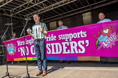 Conservative Mayor Andy Street supporting Andrew Moffat, assistant head teacher at Parkfield Community School and pioneer of the controvercial No Outsiders programme, Birmingham Gay Pride. - Jess Hurd - 25-05-2019