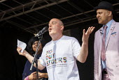 Andrew Moffat, assistant head teacher at Parkfield Community School and pioneer of the No Outsiders programme speaking, Birmingham Gay Pride Parade with LGBT+ Muslim campaigners - Jess Hurd - 25-05-2019