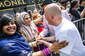 Birmingham Gay Pride supporting No Outsiders programme and Andrew Moffat, assistant head teacher at Parkfield Community School Birmingham Gay Pride Parade with LGBT+ Muslim campaigners. - Jess Hurd - 25-05-2019