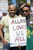 Allah Loves Us All, Supporting gay Muslims, Birmingham Gay Pride - Jess Hurd - 2010s,2019,ACE,BAME,BAMEs,Birmingham,Birmingham Gay Pride 2019,Black,Black and White,BME,bmes,Culture,diversity,equal,ethnic,ethnicity,Gay,Gay Muslim,Gays,Homosexual,HOMOSEXUALITY,Homosexuals,ISLAM,IS