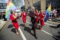 Virgin cabin crew, Birmingham Gay Pride. - Jess Hurd - 2010s,2019,ACE,activist,activists,against,Birmingham,Birmingham Gay Pride 2019,cabin,cabin crew,CABINS,CAMPAIGNING,CAMPAIGNS,color,colorful,colorfull,colors,colour,colourful,colours,crew,Culture,DEMON