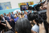Brexit Party victory press conference, Nigel Farage, Anne Widdecombe and other MEPs, European Elections, London - Jess Hurd - 2010s,2019,Ann Widdecombe,Brexit,Brexit Party,camera,cameras,communicating,communication,conference,conferences,DEMOCRACY,election,Elections,EU,European,European Union,europeans,Far Right,Far Right,Le
