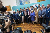 Brexit Party victory press conference, Nigel Farage, Anne Widdecombe and other MEPs, European Elections, London - Jess Hurd - 27-05-2019
