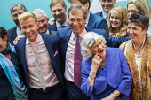 Nigel Farage, Ann Widdecombe, Claire Fox, Brexit Party victory press conference, European Elections, London - Jess Hurd - 27-05-2019