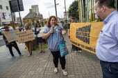London Renters Union protest outside Newham Council calling for justice for renters living in temporary accommodation, Stratford, London - Jess Hurd - 29-05-2019