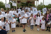 Protest at SEND funding cuts by families with children who have special educational needs and disabilities, Leamington Spa - John Harris - 30-05-2019