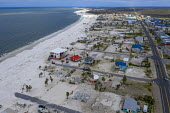 Mexico Beach, Florida, USA: destruction from Hurricane Michael 7 months after the storm hit the Florida Panhandle - Jim West - 2010s,2019,aerial,America,american,americans,beach,BEACHES,CLIMATE,Climate Change,coast,coastal,coasts,conditions,damage,damaged,destroyed,destruction,devastation,DIA,Disaster,disasters,extreme weathe